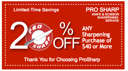 20% off Sharpening Service